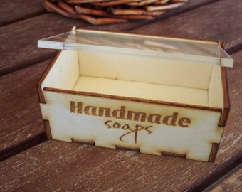PROMOTE YOURSELF - Wood Box for Handmade Soaps - Check the information for quantities discounts
