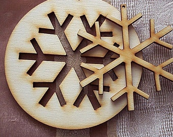 Christmas Snowflake (6 pieces total - 3 circles and 3 insides)