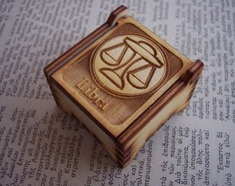 Secret Wood Box - Zodiac Collection - Libra -