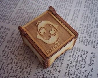 Secret Wood Box - Zodiac Collection - Pisces -