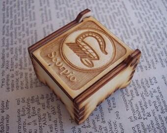 Secret Wood Box - Zodiac Collection - Scorpio -