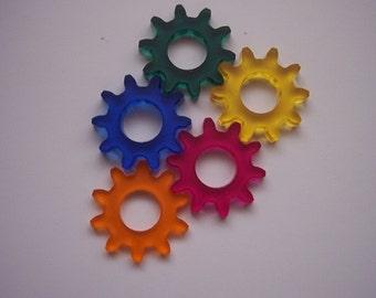 5 Pieces Gear Charms (Multi color) CHM001