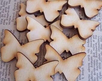 10 Pieces Butterfly Shape Tile- Large Size