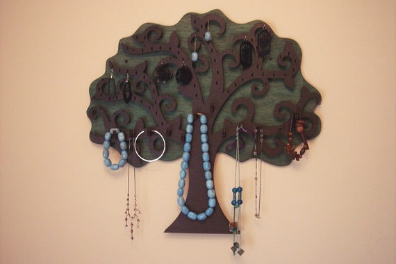 Large Tree Wall Hanging Jewelry Holder - 21.3 X 20 inches - For Earrings, Pendants, Bracelets and Necklaces