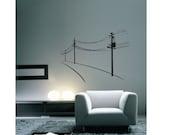 """Telephone Poles -- Vinyl Wall Art -- 25"""" x 19"""""""