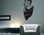 "Geisha Girl -- Vinyl Wall Art -- 15"" x 32"""