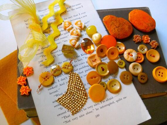 SALE.Craft  supply destash lot- Clementine