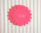 Neon Pink Blast Paper Gift Tag / Message Bubble (10 pcs)