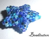 Jewelry beading tutorial - delica beaded Star - pdf file instructions