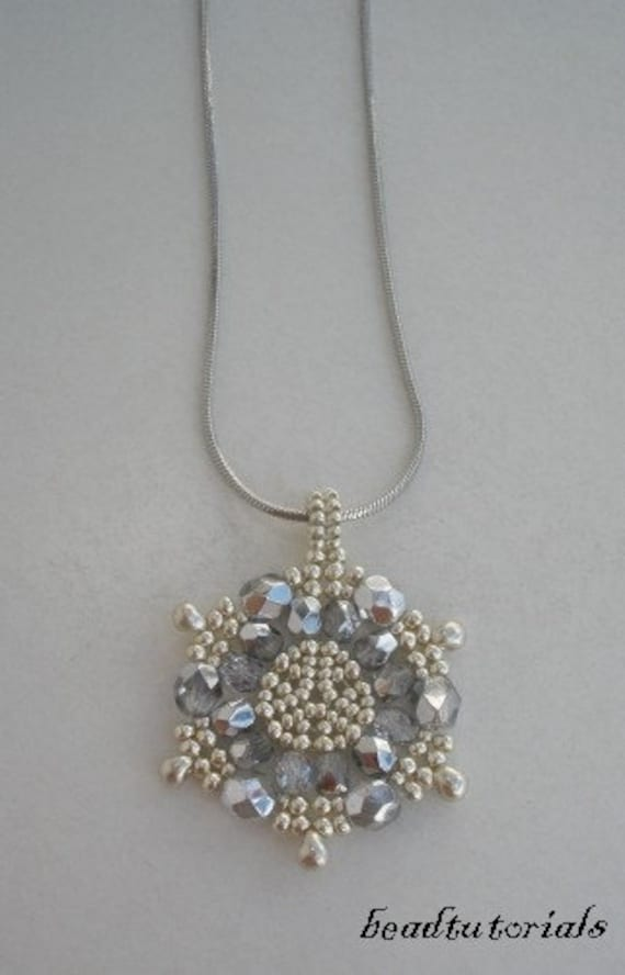 jewelry beading tutorial glass and seed beaded snowflake