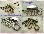 2sets-Key organizer Key holder Key rings with rivets for purse making (bag purse metal frame)