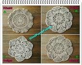 Cotton Lace Doilies Crochet trim Cotton lace Decoration for purse bag making-1piece