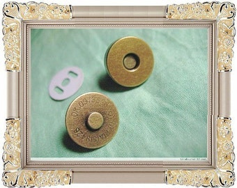 5sets diameter18mm strong-magnetic purse snap closure button (color antique brass) (purse metal frame)