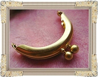 5.5cm (2 inch) mini super fancy metal purse frame (dull gold color)-1piece