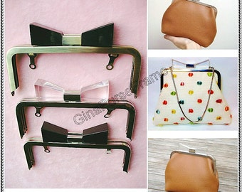 15cm (6inch) Bow tie-bead bag purse metal frame for purse making(2color)-1piece