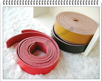 1yard Leather strap for making handles  purse bag handles (red/yellow/chocolate brown/brown/black 5colors)