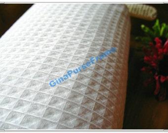 1yard--Waffle Cotton Fabrics in White French Style