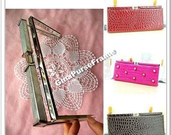 21cm (8 1/4inch) Tube head Clutch purse Metal purse frame / bag frames  (silver color)-1piece