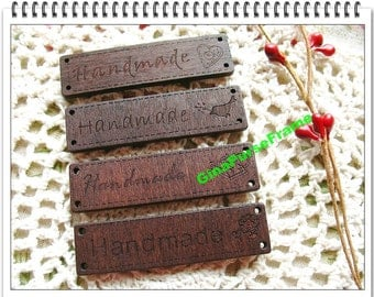 4pieces(1set)- Wooden Handmade-symbol Charms in Antique-style for your crafts purse bag making