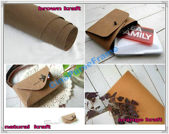 Natural Washable Kraft Paper Fabric (4color for choice)- (45cmx150cm)