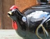 Chicken Hen Brown Vintage Tea Pot