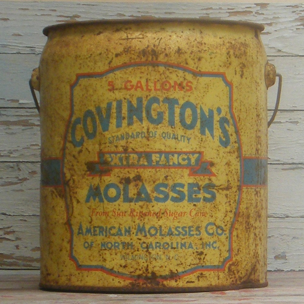 Vintage Covington S Extra Fancy Molasses Bucket
