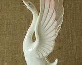 V I N T A G E Mid Century Ceramic Swan Tall Figurine