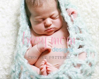 CROCHET PATTERN - Cuddly Baby Cozy - Photo Prop - Easy - PDF 406 - Sell what you Make