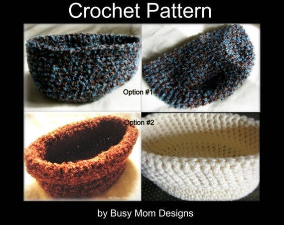 Free Crochet Pattern Newborn Nesting Bowl : CROCHET PATTERN Newborn Nest Baby Bowl 2 Designs in 1 Easy