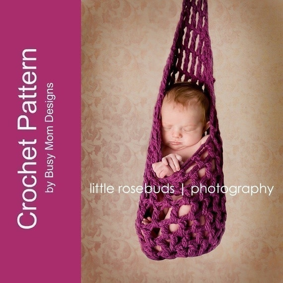 CROCHET PATTERN - Stork Pouch Hanging Pod -- Great Beginner Pattern -- Quick and Easy to Make - PDF