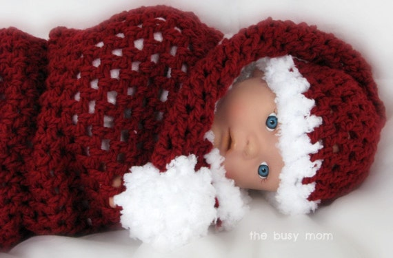 CROCHET PATTERN - Santa Baby Cocoon and Matching Sleeper ...