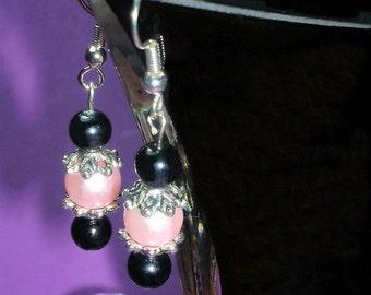 The Little Lady Bug Pink Earrings