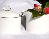 Vintage English CAMBRIDGE Johnson Bros Bone China Creamer and Sugar Bowl