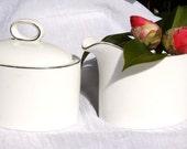 Vintage English CAMBRIDGE Johnson Bros Bone China Creamer and Sugar Bowl