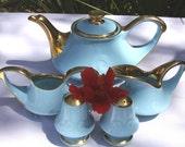 1940's Pearl China Co 22K Gold 6 Pc Tea Set