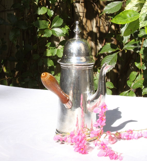 Charming 22 Ounce Silver Plated Teapot MI India