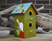 Tumbling Teardrop Bird House OOAK