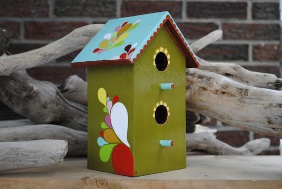 Tumbling Teardrop Bird House OOAK