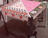 Rock Star/POP Star Boy Girl table and Chairs set. Custom