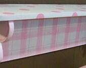 Wall Shelf Flowers  pink nursery decor
