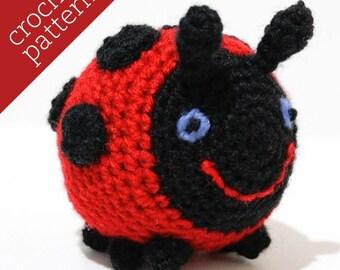 CROCHET PATTERN PDF - Amigurumi - Little Ladybug Pal