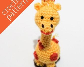 CROCHET PATTERN PDF - Amigurumi - Jolly Giraffe Pal