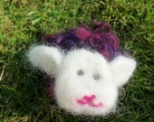 Dream Ambassador (Purple/Pink Needle Felted Sheep)