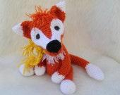 Crochet Pattern Fox by Teri Crews instant download PDF format Crochet Toy Pattern