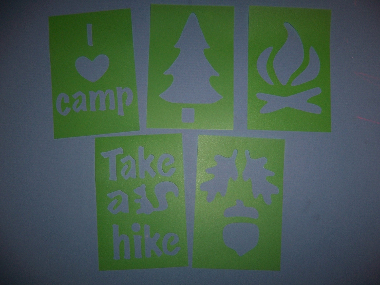 Camping Stencil Set