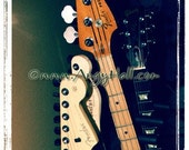 Fine Art Photography Home Decor Rock and Roll Guitars Let's Play Wall Art