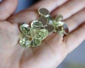 15 Pieces Of Light Green Glue On Hot Fix Acrylic Rhinestone Buttons 10 mm For Fashion Projects Costumes Altered Couture Dresses And More
