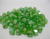 20 Pieces Green Color Swarovski Crystal Bicone Faceted Beads 4mm