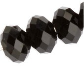 20 Pieces Of Black Swarovski Crystal Rondelle Faceted Beads 4mm
