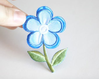 1 Flower Embroidered Applique Patch For Craft Projects, Fashion Projects, Altered Couture, Costume or Jewelry Design